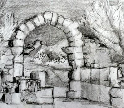 Römische Ausgrabungsstätte in Marakko